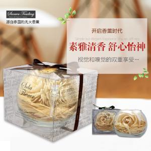 泰国原产 天然环保香薰 精油干花 车饰熏香 玻璃球香花3900