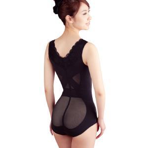 薇娜薇 正品蕾丝美体内衣连体塑身衣 产后收腹塑型无袖束身衣超薄2390